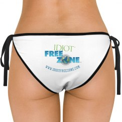 IFZ Leonetti White Side-Tie Bikini Swimsuit Bottom