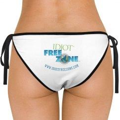 IFZ Leonetti White Side-Tie Bikini Swimsuit Bottom