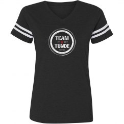 LADIES RELAXED FIT VINTAGE SPORTS TEE - CHARCOAL