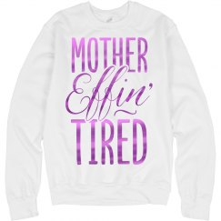 Effin tired (metallic fushia logo)