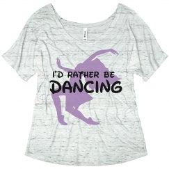 Rather be dancing adult shirt