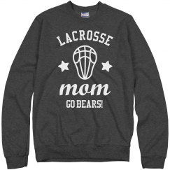 Lacrosse Mom Custom Mascot Comfy Sweatshirt