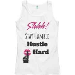 SHHH! STAY HUMBLE HUSTLE HARD Lips Tank Top