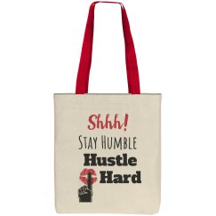 SHHH! STAY HUMBLE HUSTLE HARD Lips Canvas Tote Bag