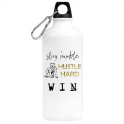 Stay Humble. Hustle Hard. WIN. Aluminum Water Bottle