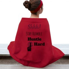 SHHH! STAY HUMBLE HUSTLE HARD Red Lips Blanket