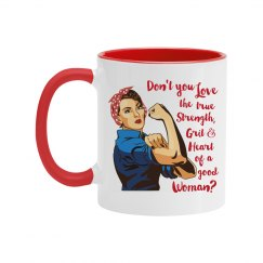 Don't You Love the Grit of A Good Woman Two Tone Mug