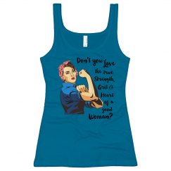 Don't You Love the Grit Long Length Tank Top