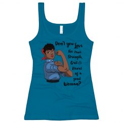 Love the Grit of a Woman Long Length Tank Top