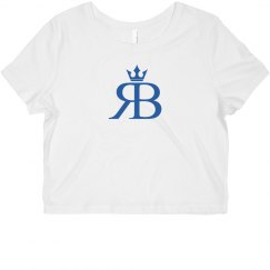 Red Bottoms Crop Tee- Blue Logo