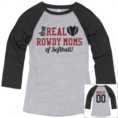 Custom Softball Mom Trendy Raglan Tee