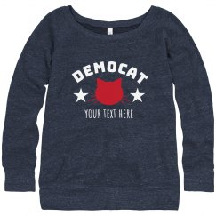 Custom Text Democat Sweater