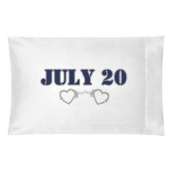 Wedding Date Pillow
