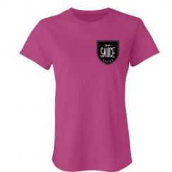 Boom Sauce Logo Ladies T