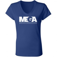 Roya Blue V Neck T Shirt