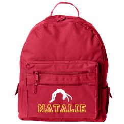 Cheer Fan Flipping Out Custom Name Cheer Backpack