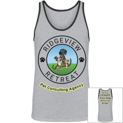 GREY Tank yellow leader for your dog