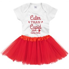 Cuter than Cupid Custom Baby Onesie & Tutu