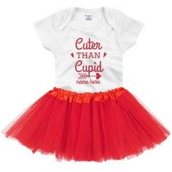 Cuter than Cupid Custom Baby Onesie & Tutu