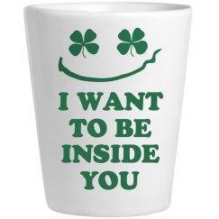 Funny Irish Whiskey Shot Glass