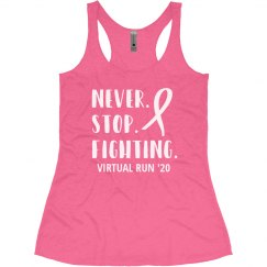 Never Stop Fighting Virtual Breast Cancer Run/Walk