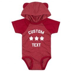 Create a Cute & Custom Hood & Ears Baby Bodysuit