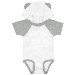 Create a Cute & Custom Hood & Ears Baby Bodysuit