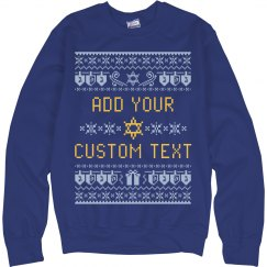 Your Text Star Of David Sweater