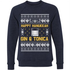 Happy Hanukkah Gin & Tonica Sweater