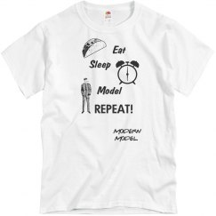 MODERN MODEL EAT, SLEEP, MODEL, REPEAT UNISEX SHIRT