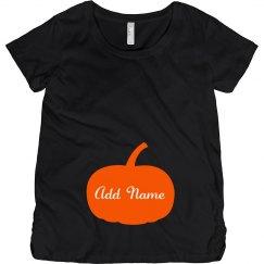 Trendy Pumpkin Halloween Baby Bump