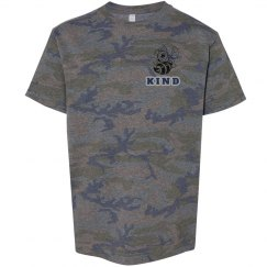 BEE Kind youth Camo tee