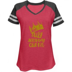 Ladies Relaxed Fit V-Neck Sports Tee