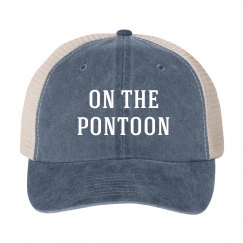 On the Pontoon Vintage Boating Lake Hat