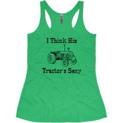 Ladies Slim Fit Super Soft Racerback Triblend Tank