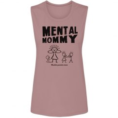Mental Mommy Muscle T (black)