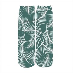 Leaf Print Tropical Pattern Socks