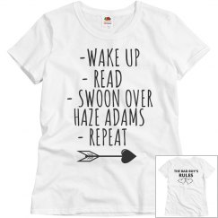 SWOON OVER HAZE ADAMS PINK T-SHIRT