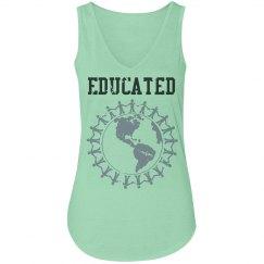Educated tank (v-neck)