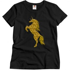 Gold Fire Unicorn Shirt