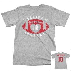 Sheridan football love tee