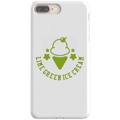 Lime Green Ice Cream iPhone 8 snap case