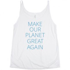 Ladies Flowy Slouchy Tank
