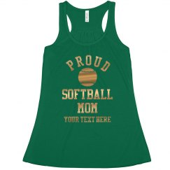 Gold Proud Softball Mom Custom