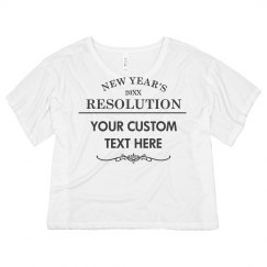 My Custom New Year's Resolution
