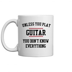 Guitar players know all
