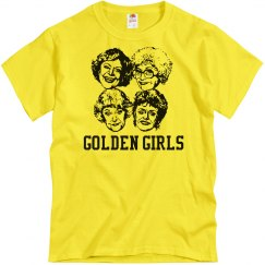 Yellow tee w/black graphic