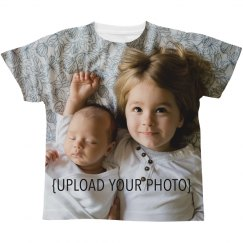 Custom Photo All Over Kids Tee