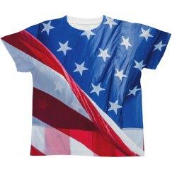Kids American Flag USA All Over