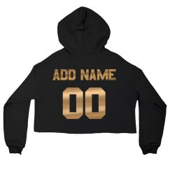 Metallic Print Your childs Name Initial Personalised hoody sweatshirt gift idea
